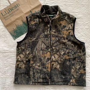 LL Bean Camo Fleece Vest